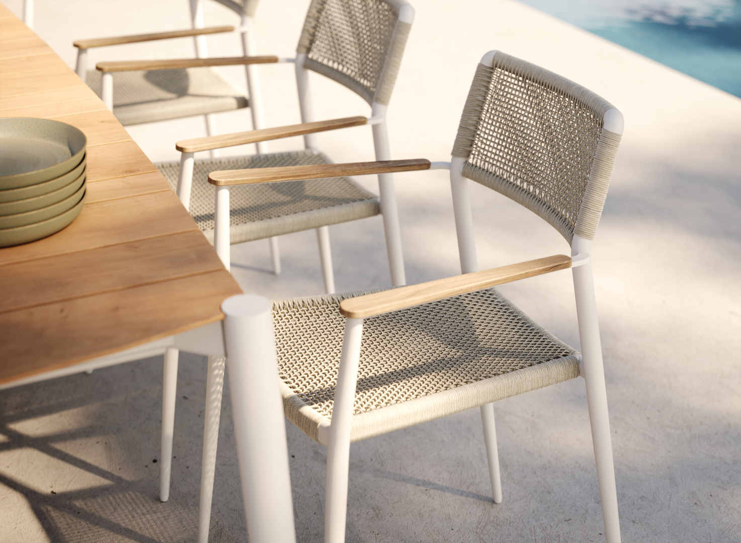 Beeldcollectief Manutti outdoor furniture render